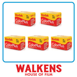 5 ROLLS - Kodak ColorPlus 200 35mm 36exp Camera Film - FLAT-RATE AU SHIPPING!