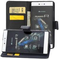 Huawei P8 Custodia a Portafoglio Protettiva wallet case cover Nero