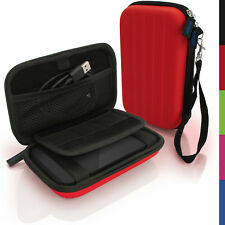 Red Hard Case Cover Pouch for Portable External Hard Drive 142 x 80.6 x 21.6mm