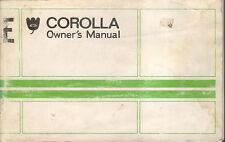 Toyota Corolla 1972-75 dueños originales MANUAL (MANUAL)