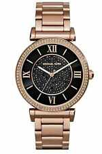 MICHAEL KORS CATLIN WOMENS WATCH MK3356 BLACK CRYSTAL DIAL RRP £259.00