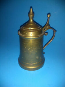 Brass Tankard with Lid / Collectible Curio