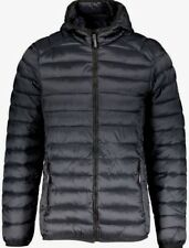 Trussardi Collection men's black hooded light padded jacket size XXL