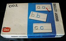 VINTAGE IDEAL SCHOOL SUPPLY GROOVY LETTERS LOWER CASE MANUSCRIPT #6068  A-Z