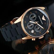 Brand New Emporio Armani AR5906 Sportivo Black Dial Women's Chronograph Watch