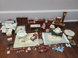 Dollhouse Miniatures 1:12 Scale Vintage Wood Furniture & Smalls Large Lot