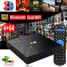 T9 Android 9.0 4+64G 4K Dual WIFI BT4.0 TV BOX Quad Core HDMI 64Bit 3D RK3318