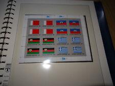 UNO New York Flaggen 1980 bis 1989 Kleinbogen und alle Zusammendrucke postfrisch