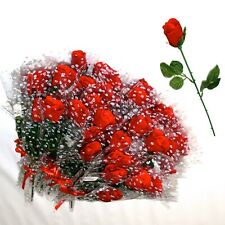Decorative 120 Single Rose Flowers Valentine's Day Home Wedding Party Decor Red