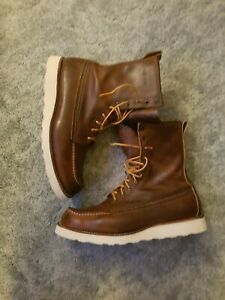 Red Wing Shoes 4583 moc toe boots size 12 D factory resoled Rare