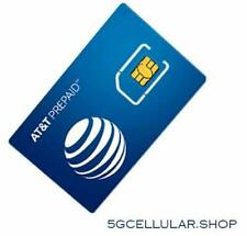 At&T Wireless Prepaid Triple Sim Card / Preloaded 30 Day Service