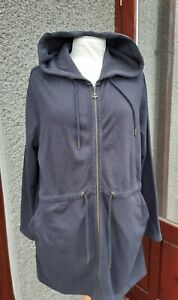 Seasalt Long Zip Up Hooded Sweatshirt, Jacket Size 12  generous in size 14