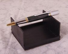 Custom Made Hand Turned Elegant Sierra Ballpoint Pen with Midnight Green Acrylic