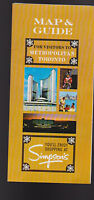 Map & Guide for Visitors to Metropolitan Toronto Canada Brochure 1967