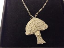 """Tree Hugger GT120 Pewter On 16"""" Silver Plated Curb Necklace"""
