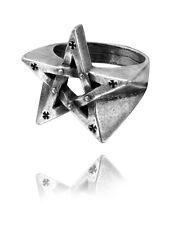 Pentagration Ring - Size W - Alchemy Gothic Pentagram Jewellery R175