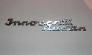 INNOCENTI AUSTIN A40 - A40 S/ SCRITTA CRUSCOTTO/ EMBLEM NAMEPLATE DASHBOARD