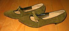 Vintage Petite Debs Wms Olive Green Heels Shoes 6