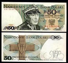 POLAND 50 Zlotych 1988 UNC  P 142 c