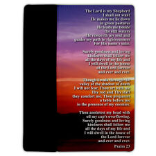 iPad 2/3 Cover - Christian Themed - Psalm 23 - Protective Leather/Suede Case