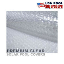 18'x36' Rectangle Swimming Pool Solar Cover Blanket 14mil Premium Clear