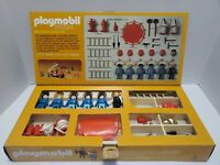 VINTAGE  PLAYMOBIL SYSTEM 1977 FIRE FIGHTERS DELUXE SET WITH BOX Incomplete