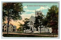 Vintage View of St. Andrews Church, Norwood NY c1910 Postcard K7