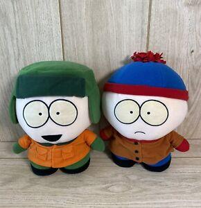 "South Park Comedy Central Stan Marsh & Kyle Broflovski 9.5"" Soft Plush Toys 1998"