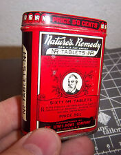 Vintage Natures Remedy NR tablets tin, paperword inside, great colros & graphics