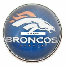 Sports Jewelry 18mm Necklace Bracelet Fits Ginger Snaps Denver Broncos Snap