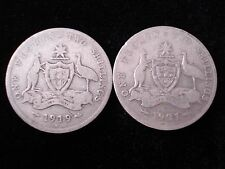 Australian 1919 and 1921 Florin Sterling Silver Coin Key Dates #SM3