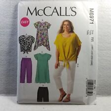 Plus Size Womens Pattern Dress Top  Pants Easy RR 18W 20W 22W 24W McCalls 6971