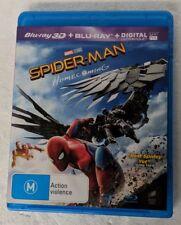 SPIDER-MAN: HOMECOMING 3D + 2D Blu-ray 2-DISC Region A B C oz seller Marvel