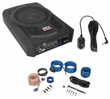 "MTX TN8MS 8"" 200w Slim Under-Seat Powered Car/Truck Subwoofer Sub+Remote+Amp Kit"