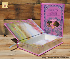 Hollow Book Safe - Beauty and the Beast - Leather Bound Book Safe