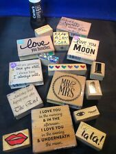 Wood Mounted Rubber Stamps Stampin' Up, Cam & Chloe Wedding / Love / Lipstick 💄