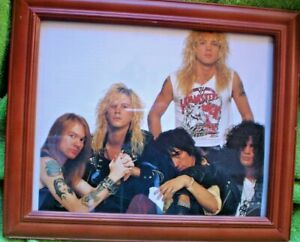 FRAMED PICTURE OF  ROCK N ROLL BAND 30 X 25 CM ROCK N ROLL MAYBE MOTLEY CREW