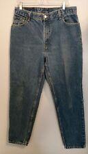 Vintage Levi's Womens 550 Mom Jeans High Waisted Tapered Leg Medium Wash Denim
