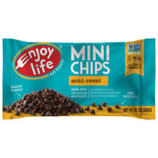 ENJOY LIFE FOODS GLUTEN FREE ALLERY FRIENDLY SEMISWEET MINI CHOC-CHIPS-PACK OF 4