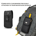 For Kyocera DuraForce Pro 2 ,Rugged Holster Tactical Pouch Nylon Metal Clip Case