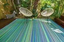 200x270cm Mexicali Outdoor/Indoor Plastic Rug/Mat Aqua Waterproof Modern