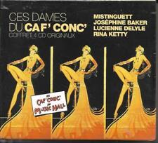 COFFRET 4 CD CES DAMES DU CAF' CONC' MISTINGUETT/RINA KETTY/DELYLE/BAKER NEUF
