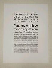 "Avenir Typeface 1988 Art Work Poster 9.5""x12.5"" Reprint Print"