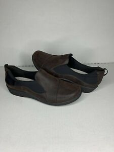 Clarks Women's Sillian Paz Slip On Shoes Brown 23535 Cloudsteppers 10D Wide NEW