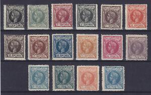 SPANISH GUINEA 1905, Mi 39-54, MLH, COMPLETE SET, RARE!