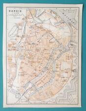 "POLAND Danzig Gdansk City Town Plan - 1912 MAP 6 x 8"" (15 x 20 cm)"