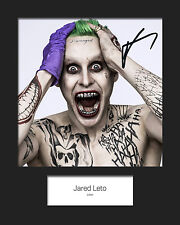 JARED LETO (Suicide Squad - JOKER) #2 Signed 10x8 Mounted Photo (REPRINT)