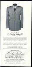 1944 US Navy Grey officers uniform photo Brooks Brothers vintage print ad