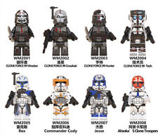 Clone Force 99 & Commanders (Set Of 8). Star Wars Custom Lego. Posted from U.K.