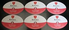 WORTHINGTON'S BEER MATS / COASTERS (x10)  - NEW / RUGBY BALL SHAPED